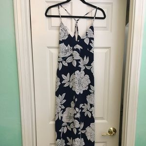 Forever 21 Floral Maxi Dress Blue and White